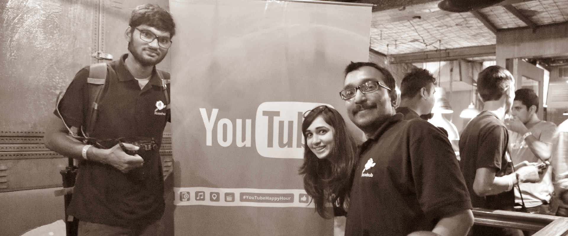 Rosehub at Youtube Happy Hour