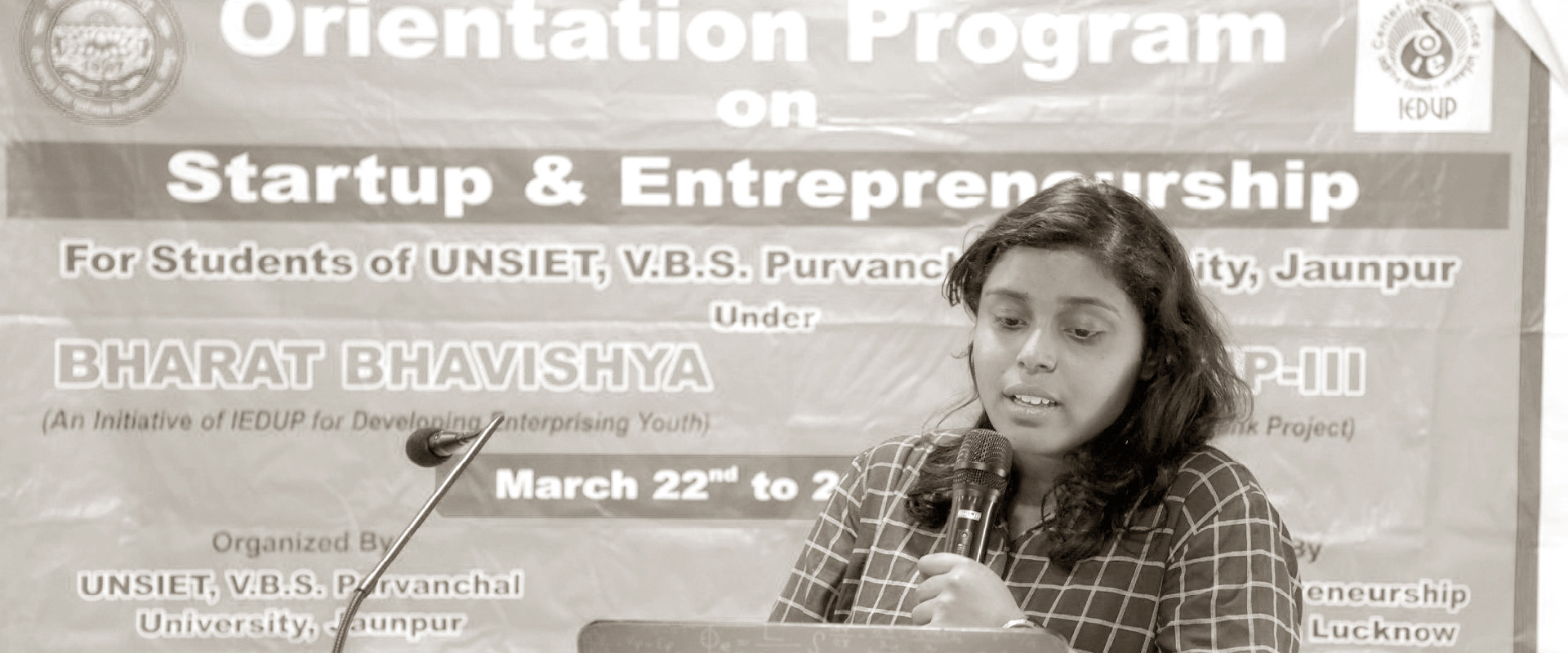 Entrepreneurship talk at Purvanchal University