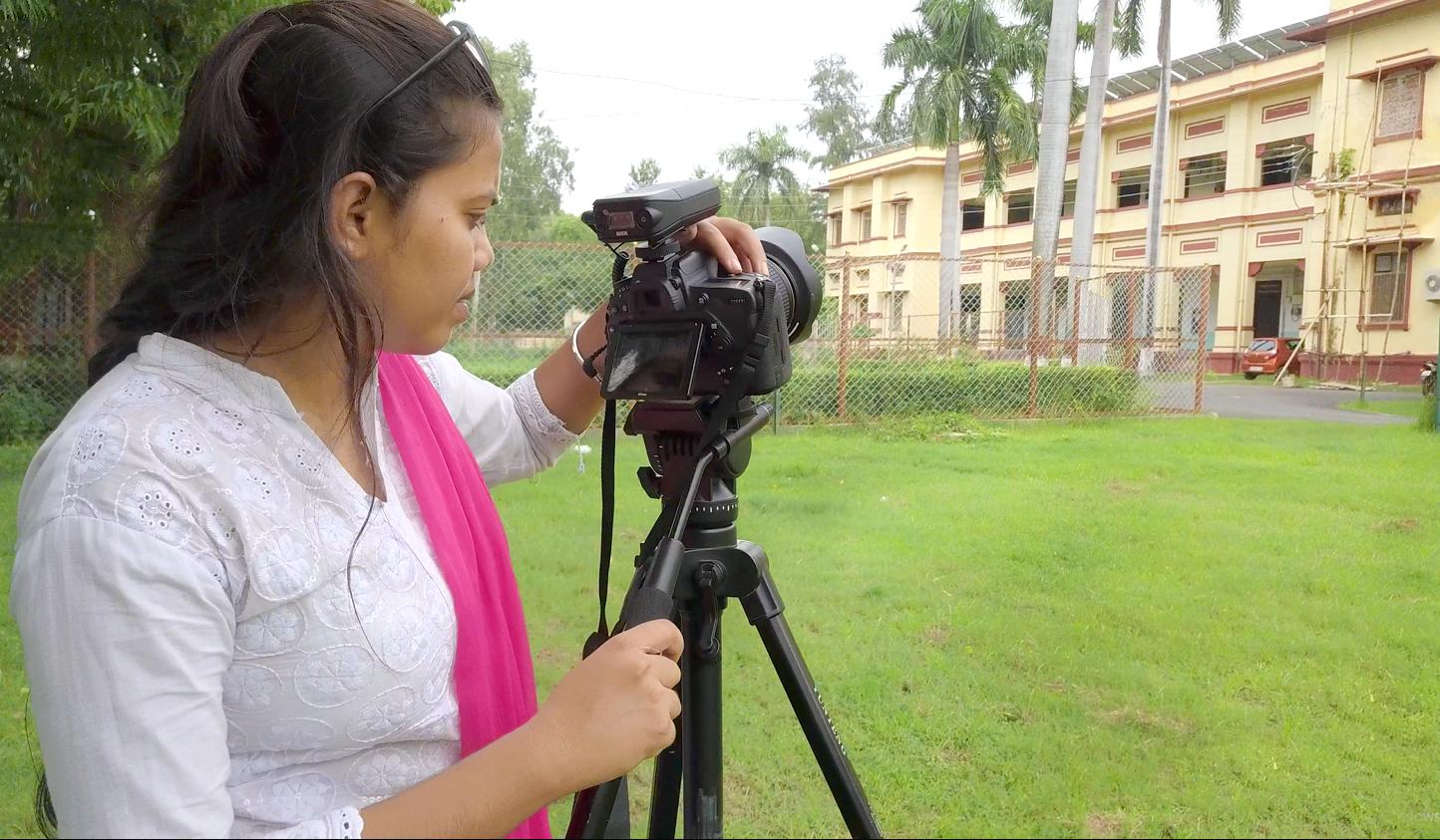 Yashmeeen Rao, During Shoot