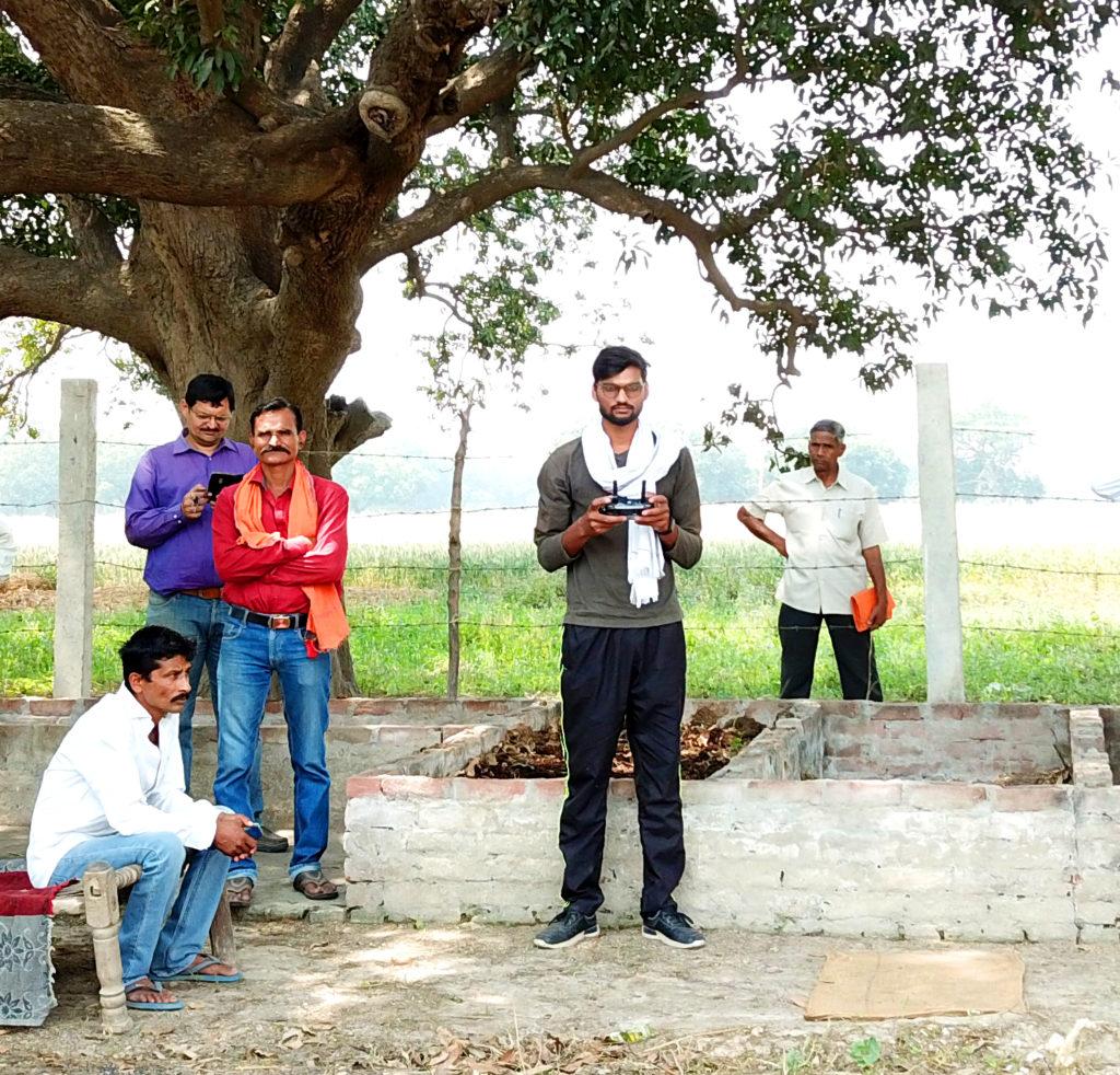 Kuber Patel during shoot
