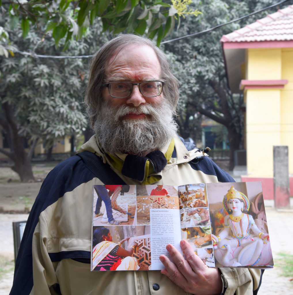 Koenraad Elst with Crafts of Varanasi Book