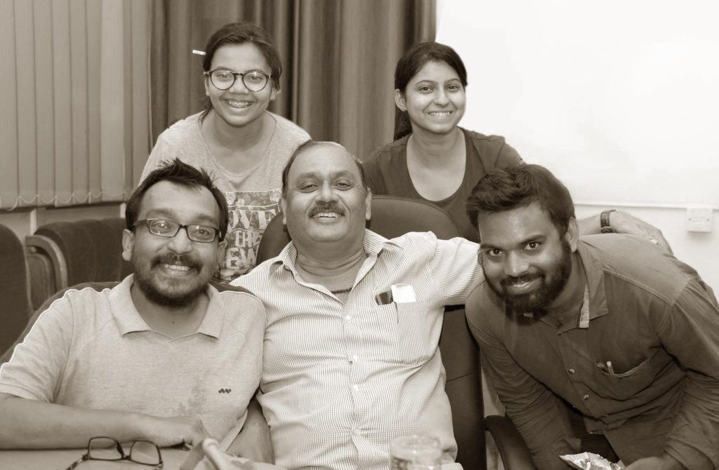 Team Rosehub with Prof. PK Mishra