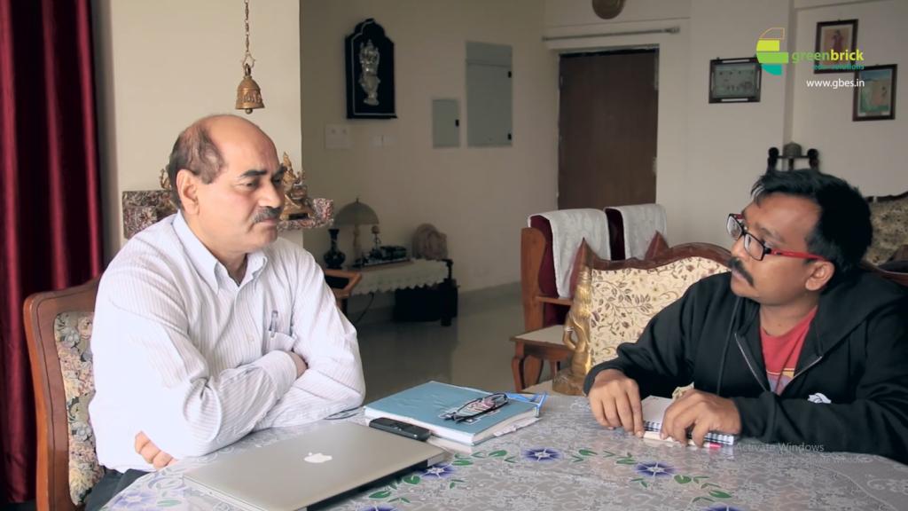 Sagar Das Interviewing Railway Offical
