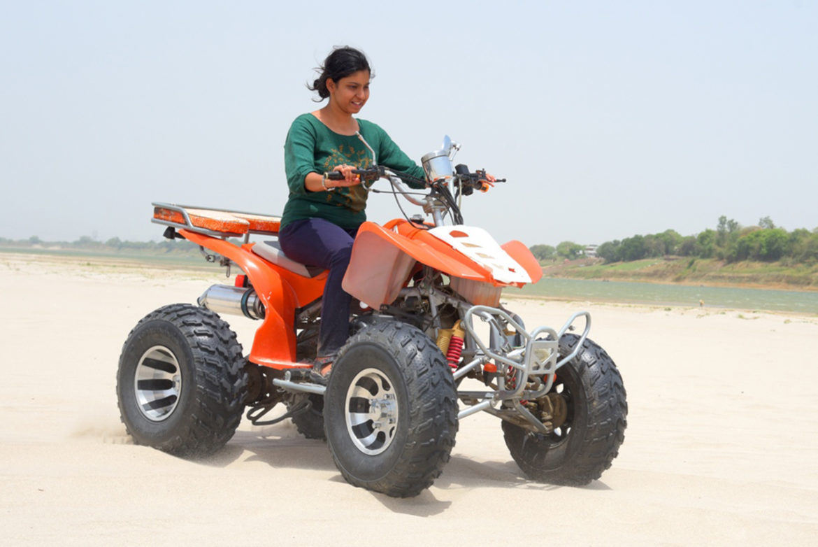 Dipiti Banerjee on Desert Bike