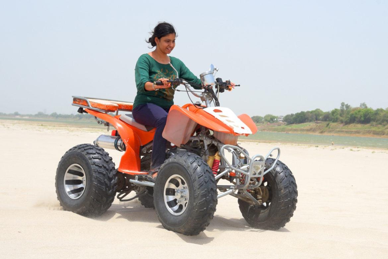 Dipiti Banerjee on Desert Bike